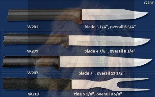 G23C Prepare Then Carve Knife Gift Set Holiday -Black Handle (Rada Cutlery)