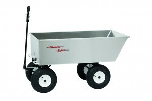 "1027 ATV 4 Wheel 9 ft³ Aluminum Dump Trailer/Wagon 27"" x 48"" x 13"""