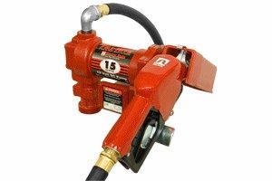 FR1210GEA Tuthill/FillRite 12vDC 15 GPM Gasoline/Diesel Fuel Transfer Pump w/ auto nozzle (BSPP)