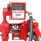 FR2411GELA Tuthill/FillRite 24vDC 57 LPM Diesel/Gas Transfer Pump/Liter Meter (BSPP)