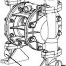 "1035M Zeeline 1:1 Air Diaphragm Pump 14 Gpm 1/2"" Npt Split Inlet Mixing Pump"