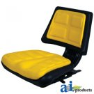 T110YL Universal Tractor Seat w/ Trapezoid Back YELLOW