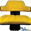 WF222YL Universal Flip-Up Tractor Seat with Arm Rest YELLOW
