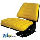 TF222YL Universal Flip-Up Tractor Seat Trapezoid Back YELLOW