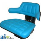 W222BU Universal full suspension adjustable Tractor Seat with armrest BLUE
