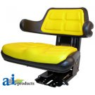 W223YL Universal full suspension adjustable Tractor Seat with armrest YELLOW