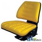 T222YL Universal Tractor Seat Trapezoid Back Yellow