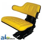 W316YL John Deere Tractor Seat 16' Degree Angle w/ Arm Rest YELLOW