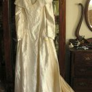 Oleg Cassini Wedding Gown Silk Pearls Sz 14 NWT