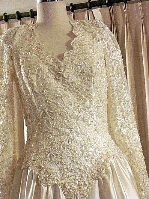 Wedding Gown Amy Lee Hilton Bridal Pearl Encrusted  sz 10