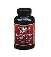 Pantothenic Acid 250 mg - 100 Tablets