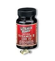 Natural Vitamin E 100 IU - 100 Softgels