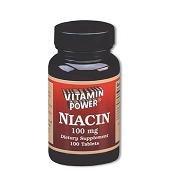 Niacin 100 mg - 100 Tablets