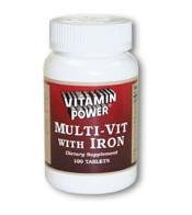 Daily Multi Vite With Iron - 100 Tablets