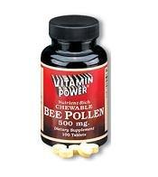 Chewable Bee Pollen 1000 mg tabs - 100 Tablets