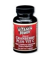 Cranberry Plus Caps (with Vitamin C - 100mg) - 100 Capsules