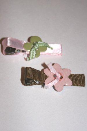 Set of two girly girl alligator clips