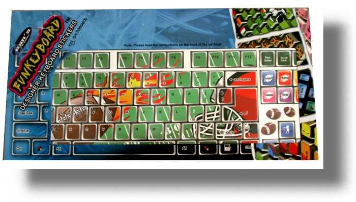 COMPUTER KEYBOARD  DESKTOP/  LAPTOP  SKINS  FOOTBALL