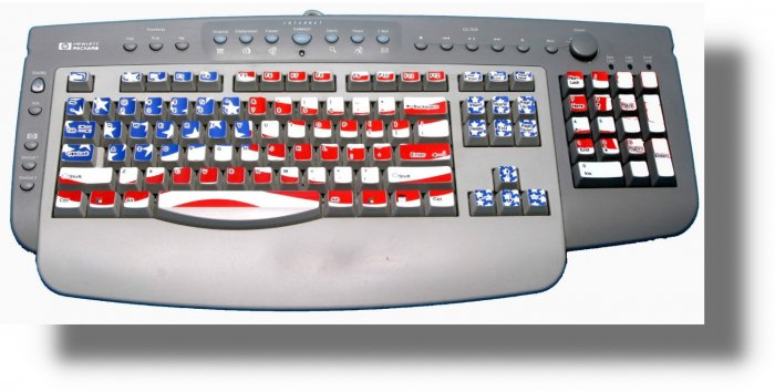 COMPUTER KEYBOARD  DESKTOP/  LAPTOP  SKINS  FLAG