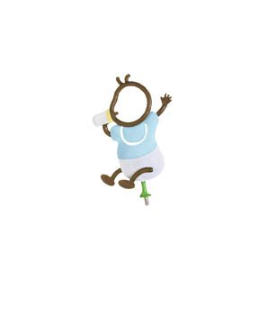 Family Matters Metal Yard Stake  BABY BOY  Whimsical Character