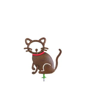 Family Matters Metal Yard Stake  KITTY  Whimsical Character