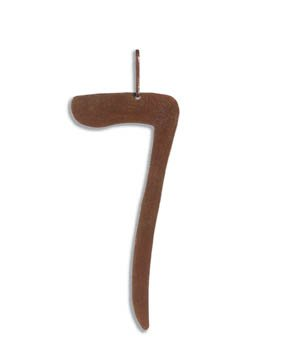 Family Matters Metal Yard Stake  ADDRESS  Whimsical Number SEVEN