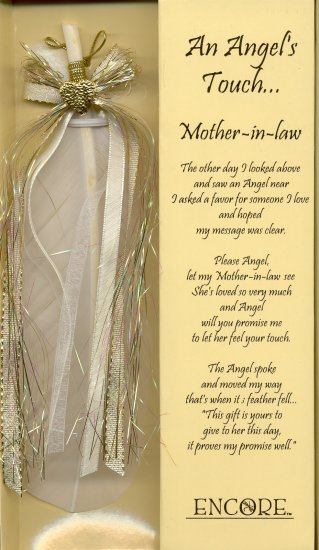 AN ANGEL'S TOUCH FEATHER   -    MOTHER-IN-LAW