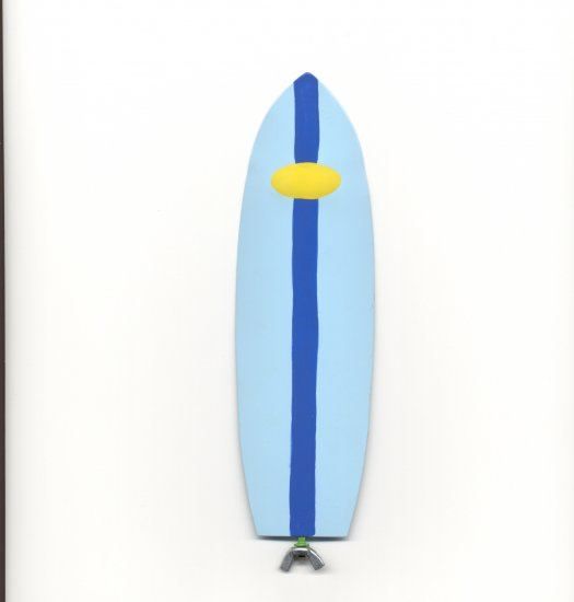 Family Matters Metal Yard Stake SURFBOARD  Whimsical Figure