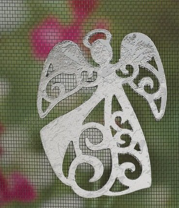MAGNETIC WINDOW /DOOR  SCREEN SAVER  DECORATIVE  ORNAMENT SILVER  DANCING  ANGEL  FREE SHIPPING
