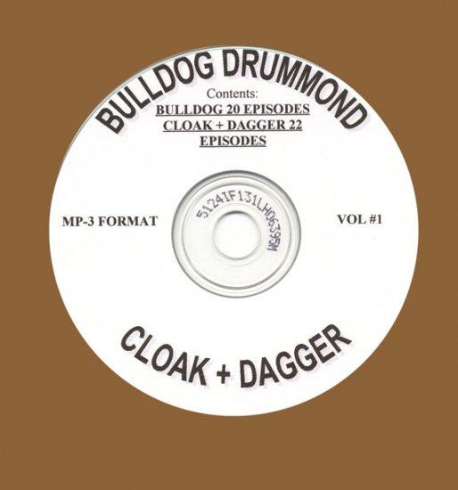 OLD TIME RADIO SHOW Bulldog Drummond & Cloak And Dagger  OTR