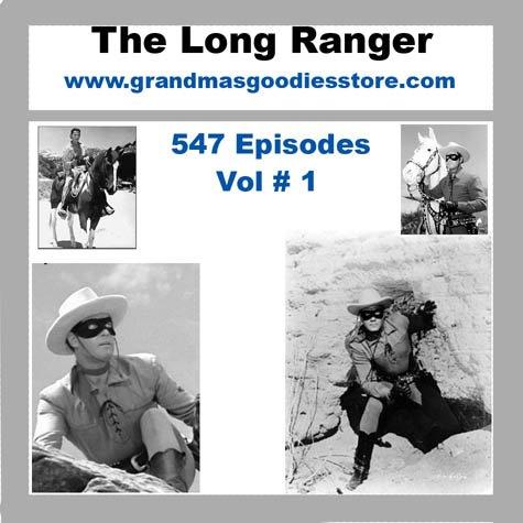 OLD TIME RADIO SHOWS LONE RANGER 547 EPISODES  VOL # 1 OTR