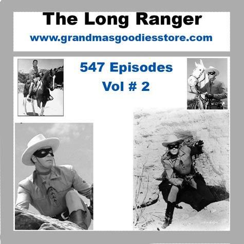 OLD TIME RADIO SHOWS LONE RANGER 547 EPISODES  VOL # 2 OTR