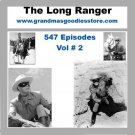 OLD TIME RADIO SHOWS LONE RANGER 547 EPISODES  VOL # 2 OTR