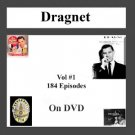OLD TIME RADIO OTR DRAGNET VOL#1 184 EPISODES ON DVD