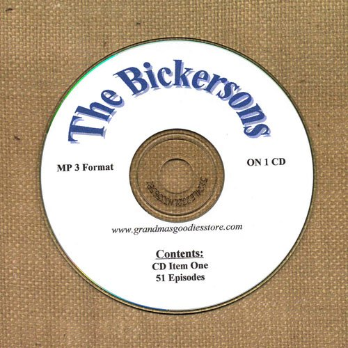 OLD TIME RADIO OTR  THE BICKERSONS  51 EPISODES