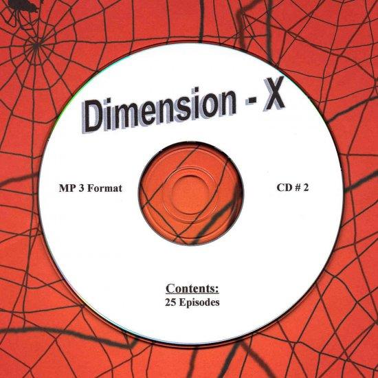 OLD TIME RADIO OTR  DIMENSION - X  CD # 2  25  EPISODES
