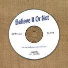OLD TIME RADIO SHOWS OTR   BELIEVE IT OR NOT  364 EPISODES  ON CD