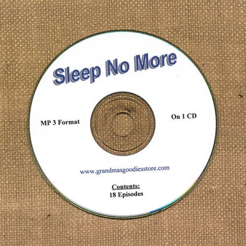 OLD TIME RADIO OTR   SLEEP NO MORE  18  EPISODES  ON CD