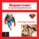 OLD TIME RADIO  OTR    SUPERMAN 1154 EPISODES   DVD