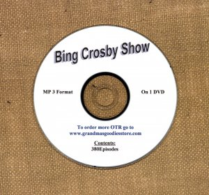 OLD TIME RADIO SHOWS   BING CROSBY SHOW 380 EPS. ON DVD  OTR