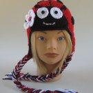 Ladybug Beanie Hat Handmade Crochet Toddler 1-4