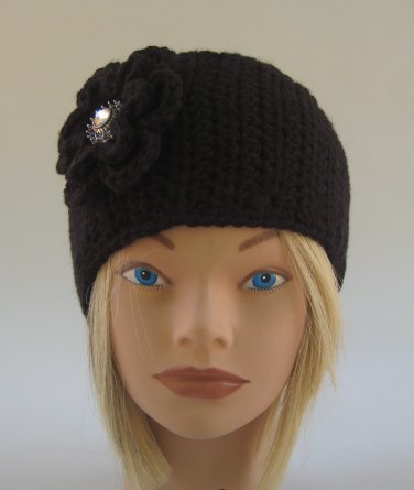 Black Headband Handmade Crochet Pre-Teen to Adult
