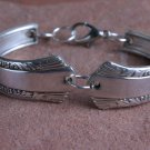 Rodgers 1940 Treasure Vintage Silver Plated Silverware Spoon Bracelet 6 1/2 #020