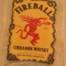 Fireball Cinnamon Whisky bottle.  Flattened (slumped) bottle