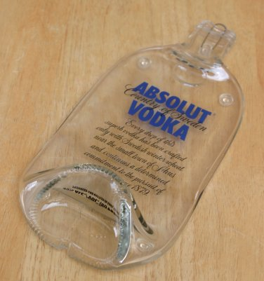 Absolut Vodka bottle Flattened (slumped) Liqueur/wine bottle
