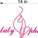 "HUGE 10"" X 14"" Baby Phat Pink Vinyl Sticker Decal Car"
