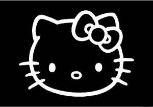 Hello Kitty White Sticker Decal Car FREE SHIPPING #30W