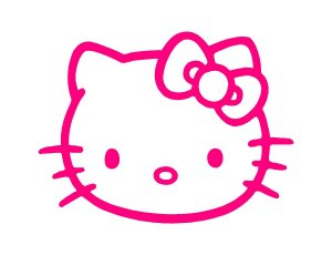 Hello Kitty Pink Vinyl Sticker Decal Car #30