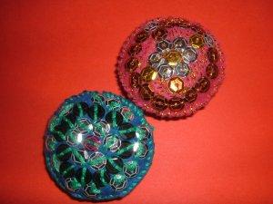 Russian mini-brooches