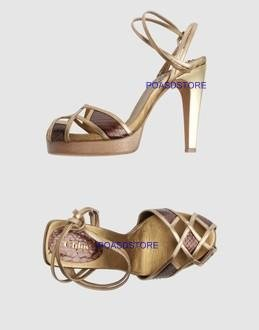 CHLOE python and golden leather,hight heeled sandals,New with box